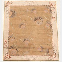 "Karen LaFleur ""Pond Drops"" Tibetan Woven Rug"