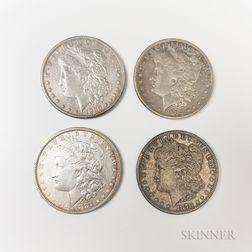 Four Morgan Dollars