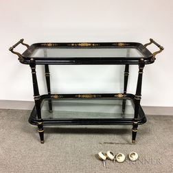 Georgian-style Lacquered Tea Cart
