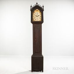 Grain-painted Wooden Works Tall Clock