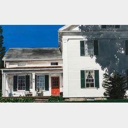 Deborah Rubin (American, b. 1948)      White House with Red Door