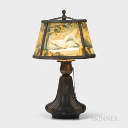 Bradley and Hubbard Reverse-painted Table Lamp