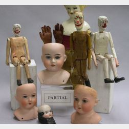 Doll Parts and Miscellaneous Doll-making and Dressing Items