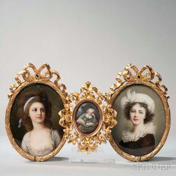 Three German Porcelain Plaques