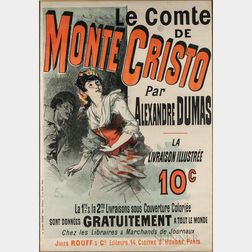 Dumas, Alexandre (1802-1875) Le Comte de Monte Cristo,   Poster Illustrated by Jules Chéret (1836-1923).
