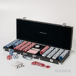 Sharper Image Cased Poker Chip and Dice Set