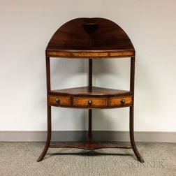 Regency Inlaid Mahogany One-drawer Washstand
