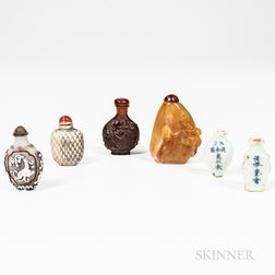 Six Snuff and Medicine Bottles
