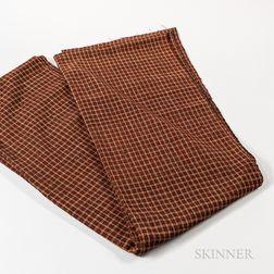 Four-color Homespun Wool Fabric