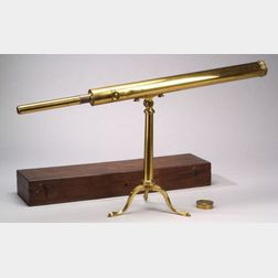 Lacquered-Brass 2-inch Refracting Table Telescope by Dollond