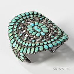 Southwest Silver and Turquoise Bracelet