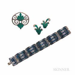 Margot de Taxco Sterling Silver and Enamel Jewelry