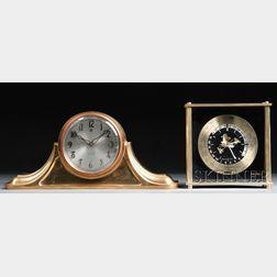 Two Gold-tone Clocks