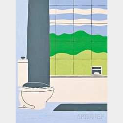 John Wesley (American, b. 1928)      Landscape with Bathroom