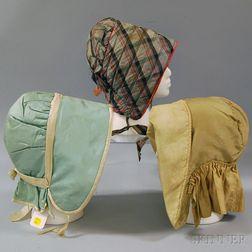Three Silk and Satin Bonnets