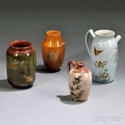 Four Rookwood Pottery Vases