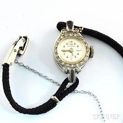 Lady's Glycine 14kt White Gold and Diamond Wristwatch