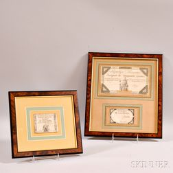 Three Framed 18th Century French Revolution Bank Notes