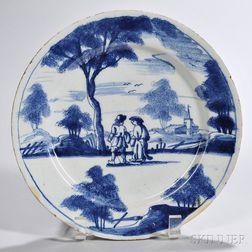 Tin-glazed Earthenware Country Folk Plate