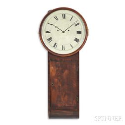 S. Willard Mahogany Striking Tavern Clock
