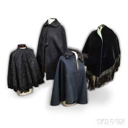 Four Victorian Black Capes