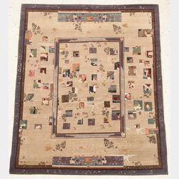 "Karen LaFleur ""Snow White"" Tibetan Woven Rug"