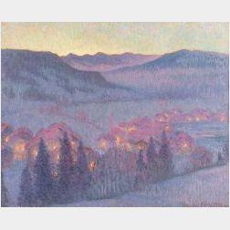 William Samuel Horton (American, 1865-1936)  View of Gstaad, Switzerland