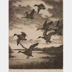 Hans Kleiber (German/American, 1887-1967)    Stormy Evening