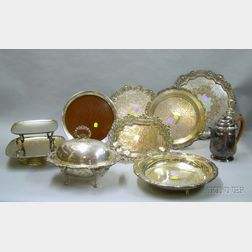 Nine Silver Plated Serving Pieces