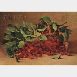 Fall River School, 19th Century      Still Life with Cherries