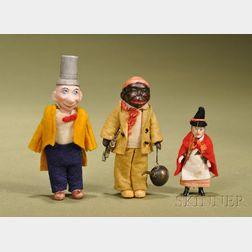 Three German All-Bisque Novelty Dolls