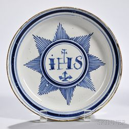 Tin-glazed Earthenware Religious Plate