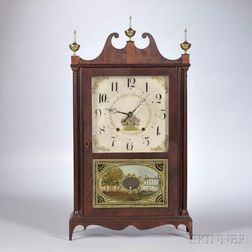 Seth Thomas Pillar and Scroll Shelf Clock