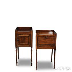Two Late Georgian Mahogany Bedside Tables