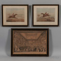 Three Framed English Prints:      Henry Alken (British, 1785-1851), Two Prints from Hunting Recollections