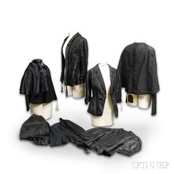 Eight Pieces of Victorian Mourning Clothing