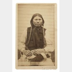 "Framed Photograph of Arapaho Chief ""Sitting Bull, Leader of the Ghost Dance"" by H.P. Robinson"