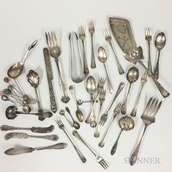 Group of Sterling Silver and Coin Silver Flatware