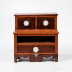 Cherry and Tiger Maple Sewing Box