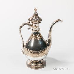 Victorian Parcel-gilt Sterling Silver Wine Ewer