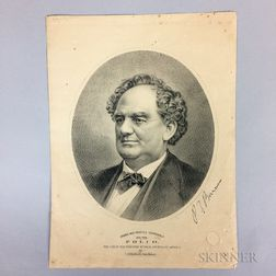 J.H. Bufford's Sons Engraving of P.T. Barnum