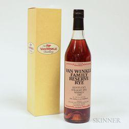 Van Winkle Family Reserve Rye 1985, 1 70cl bottle