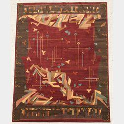 "Karen LaFleur ""That Away"" Tibetan Woven Rug"