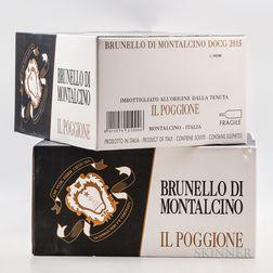 Poggione Brunello di Montalcino 2015, 12 bottles (2 x oc)