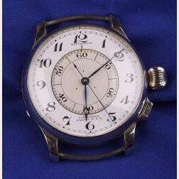 Gentleman's Stainless Steel Aviator Wristwatch