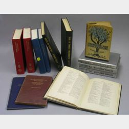 Thirteen Bound Genealogical Related Books