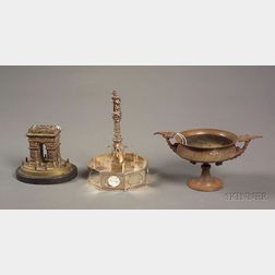 Three Grand Tour Decorative Metal Table Articles