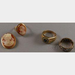 Three 14kt Gold Jewelry Items