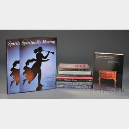 Nine Assorted Reference Books on American Antique Furniture, Decorative Arts,   and Folk Art