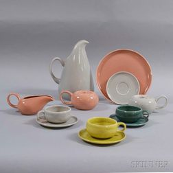 Twelve Russel Wright for Steubenville Pottery Tableware Items